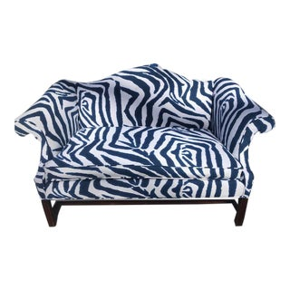 Striking Zebra Striped Settee