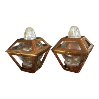 Mid-Century Lantern Salt & Pepper Shakers - A Pair
