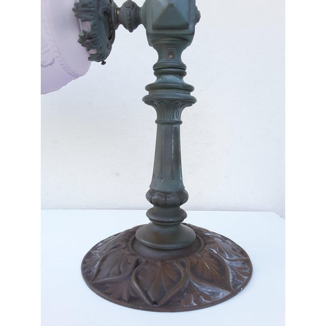 Antique French Parisienne Street Lantern in Solid Bronze For Sale - Image 9 of 11