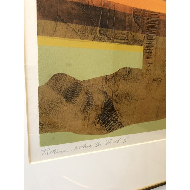 Eric Bellman Mixed Media Abstract of Southwest For Sale - Image 4 of 11