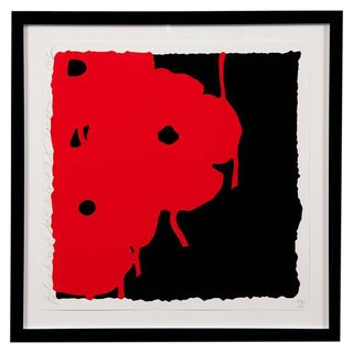 Red and Black Screen Print by Donald Sultan For Sale