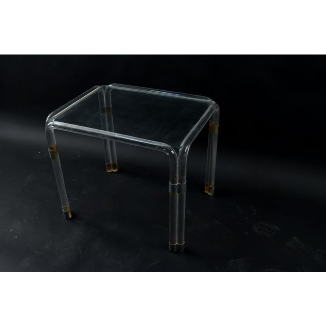 Mid 20th Century Lucite Side Table Attributed to Charles Hollis Jones For Sale - Image 5 of 10