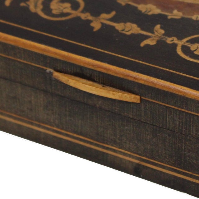 19th Century French Inlay Wooden Box For Sale - Image 4 of 13