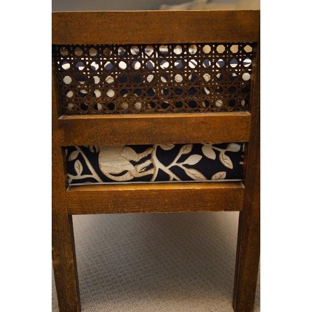 Mid-Century Robert Allen Upholstered Cane Settee For Sale - Image 12 of 13
