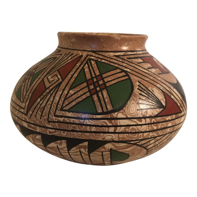 1990s Mata Ortiz Polychrome Pottery Jar For Sale
