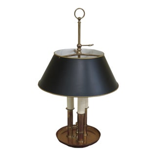 Chapman Brass With Tole Shade Desk or Table Lamp