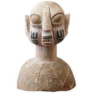 Wooden Head of a Wife of an Ooni of Ile-Ife, Yoruba People, Nigeria, Circa 1930s For Sale
