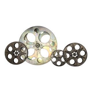 Vintage Gold Tone Film Reels - Set of 4 For Sale