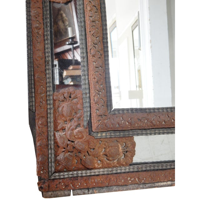 Brown 18th Century Dutch Baroque Mirror For Sale - Image 8 of 10