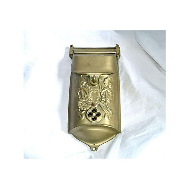 Vintage Brass Mailbox With Peephole - Image 6 of 11