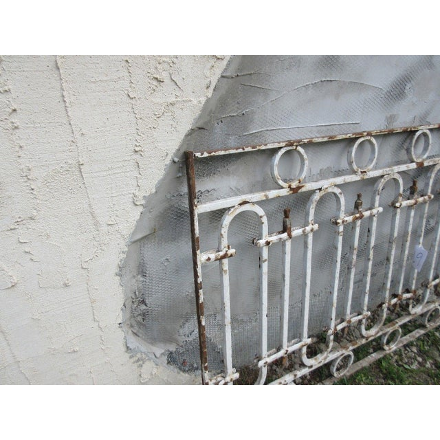 Antique Victorian Iron Gate or Garden Fence Element For Sale In Philadelphia - Image 6 of 6
