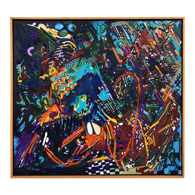 Large 1987 Abstract Painting by Thomas Farnam For Sale