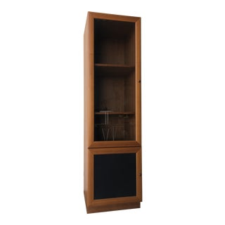 Vintage Danish Modern Style Curio China Display Cabinet. For Sale