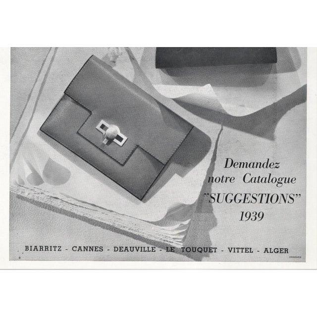 Hermès Matted Vintage Art Deco Hermes Print-Handbags For Sale - Image 4 of 5