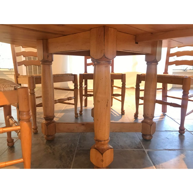 2000 - 2009 Andre Originals Solid Wood Kitchen Dining Set - 7 Pieces For Sale - Image 5 of 8
