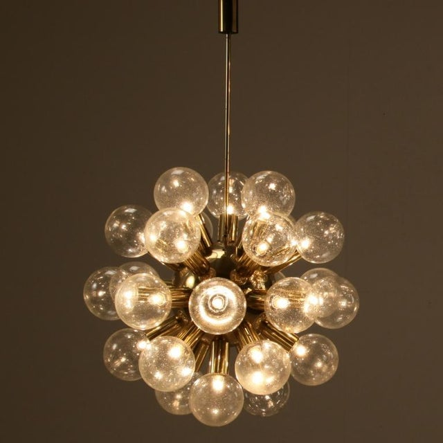 Several Robert Haussmann Brass Sputnik Pendants Holding Twenty Eight Bulbs - Image 5 of 10