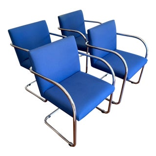 Van Der Rohe Tubular Brno Chairs From Disneyland Offices For Sale