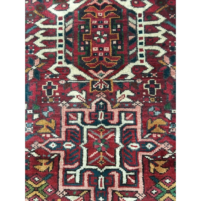 "Vintage Karajeh Persian Runner - 3'8"" X 9' - Image 6 of 9"