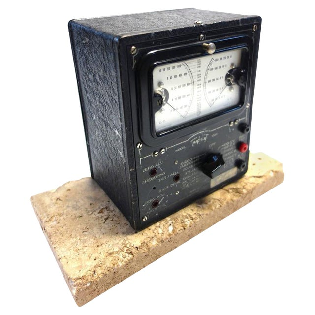Universal Meter by Triplett Vintage Electric Meter Mounted As Sculpture. Circa 1934 For Sale