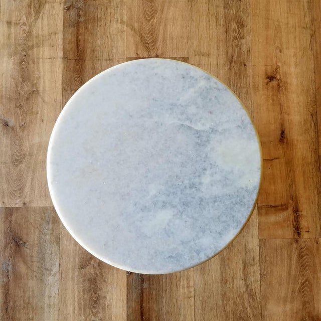 Mid 20th Century Vintage Scuptural Marble Side Table For Sale - Image 5 of 12