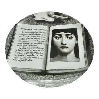 Piero Fornasetti Plate #201 Made in Italy For Sale