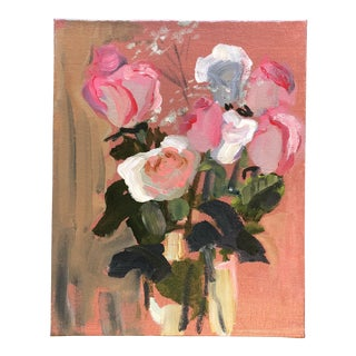Original Contemporary Still Life With Roses Painting For Sale