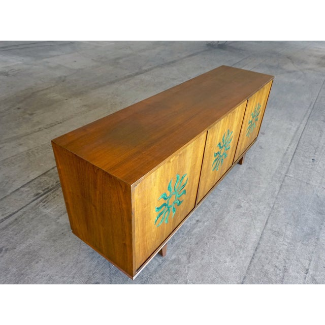 Cal Mode Resin & Walnut Credenza - Image 5 of 5
