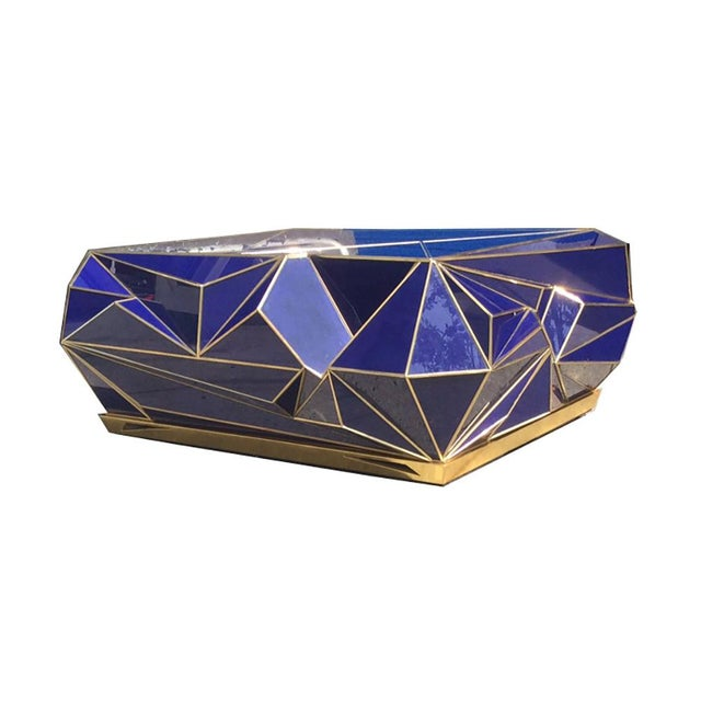 Blue Ploytope Coffee Table in Cobalt by MarGian Studio For Sale - Image 8 of 10