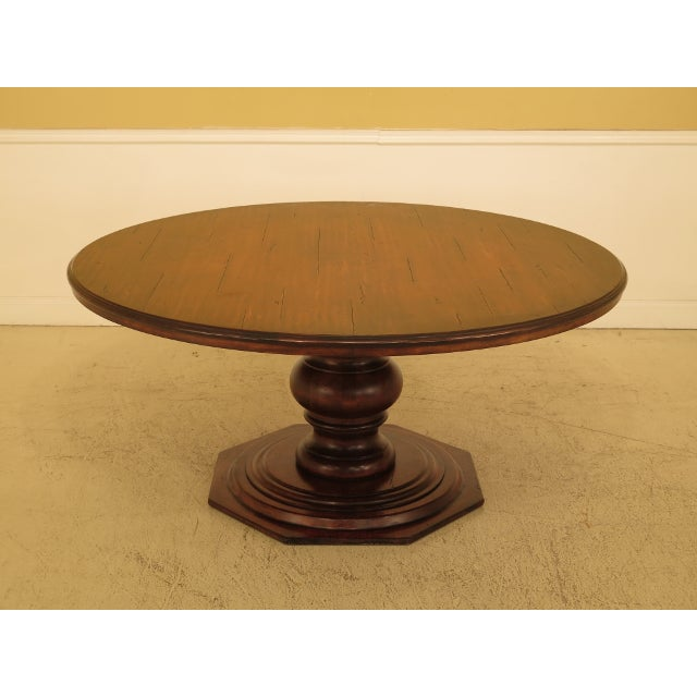Brown Guy Chaddock Round Distressed Wood Dining Room Table For Sale - Image 8 of 8