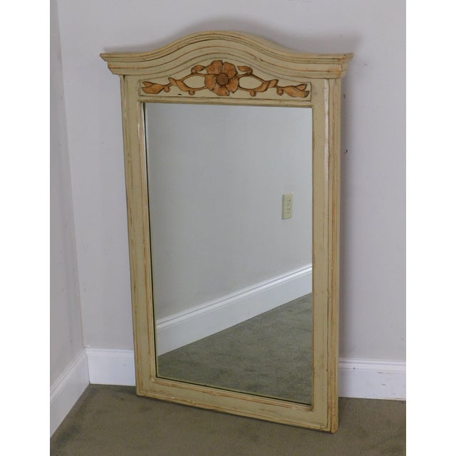 French Country Woodland Furniture French Country Style Painted Wall Mirror For Sale - Image 3 of 12