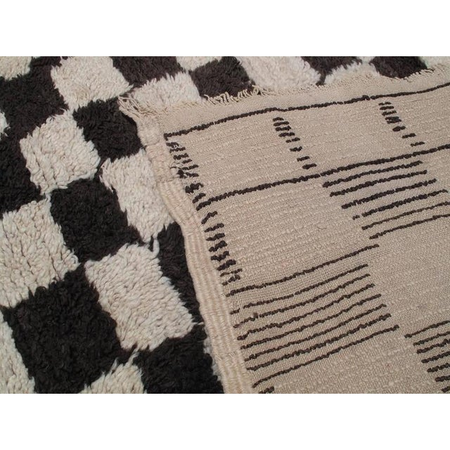 "Textile ""Chessboard Boogie Woogie,"" Moroccan Berber Carpet For Sale - Image 7 of 8"