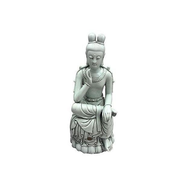 Blanc De Chine Seated Buddha - Image 6 of 6
