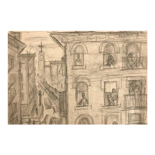 1930s George Daniell Drawing of New York For Sale