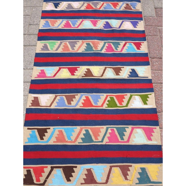 Vintage Turkish Kilim Runner Rug For Sale - Image 9 of 10