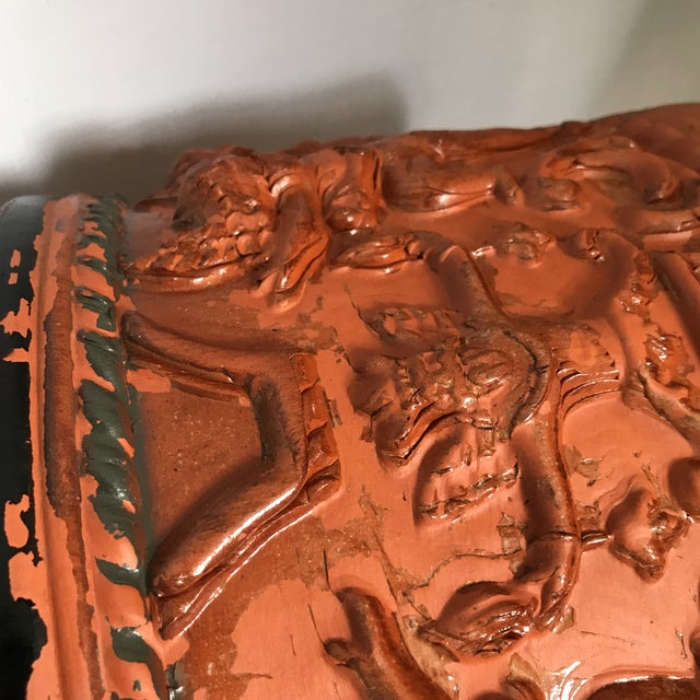 Terracotta Figural Relief Pot For Sale - Image 10 of 11