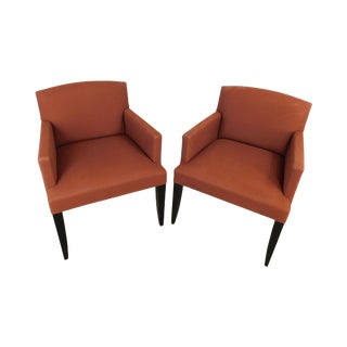 Modenature Classic Modern French Art Deco Style Pair Bergere Chairs (B) For Sale