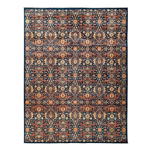 """New Hand Knotted Area Rug - 8'10"""" x 11'8"""" For Sale"""