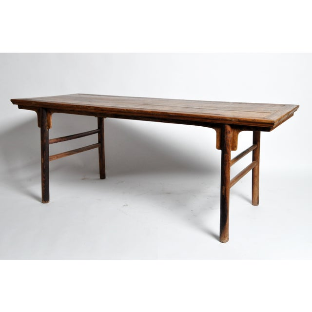 Asian Chinese Painting Table with Round Legs For Sale - Image 3 of 13