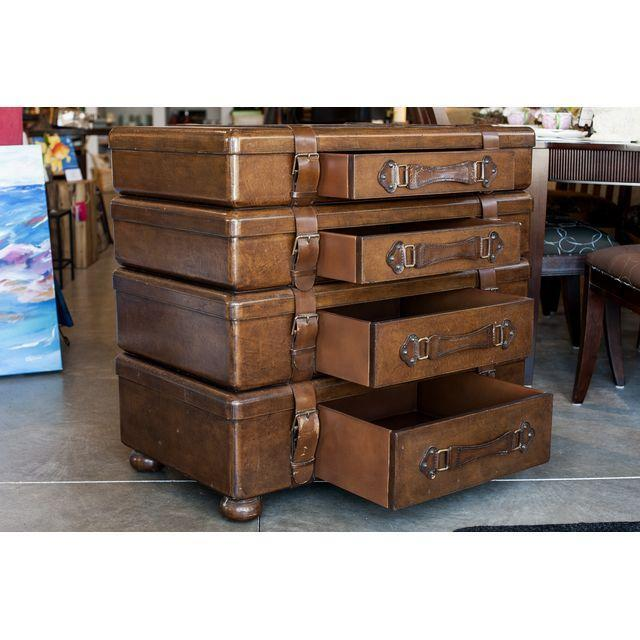 Luggage Style Furniture: Lexington Stacked Luggage Dresser