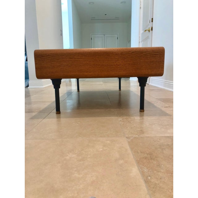 Contemporary Mid-Century Modern Coffee Table With Storage Space For Sale - Image 3 of 9