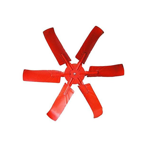 "X-Large 60"" Industrial Orange Propeller - Image 1 of 5"