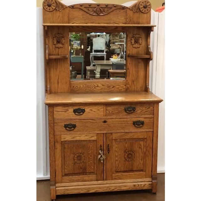 Vintage Oak Buffet - Image 2 of 6
