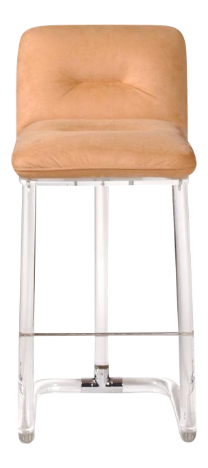 1970s Leon Frost For Lion In Frost Inc. Lucite Bar Stools   Set Of 5