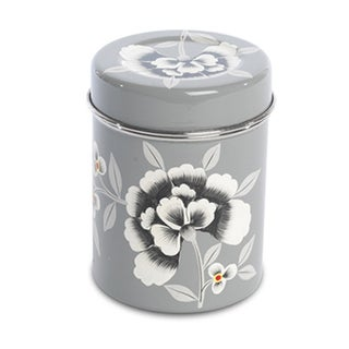 Fleur Enamelware Tea Tin For Sale