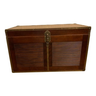 Mahogany Chest With Brass Hardware For Sale