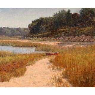 Ronald Tinney, Fall Beach Scene Painting, 2014 For Sale