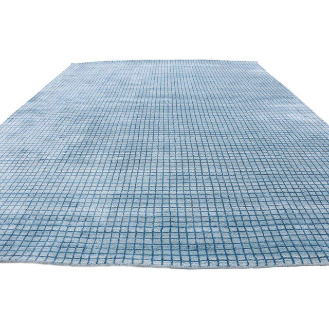 30433 contemporary Beach style area rug with grid pattern and coastal living style. This new modern beach style area rug...