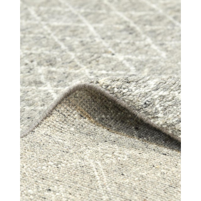 Textile Vinay, Bohemian Moroccan Hand Knotted Area Rug, Gray, 5 X 8 For Sale - Image 7 of 9