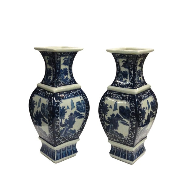 Chinese Blue & White Porcelain Vases - A Pair - Image 2 of 4