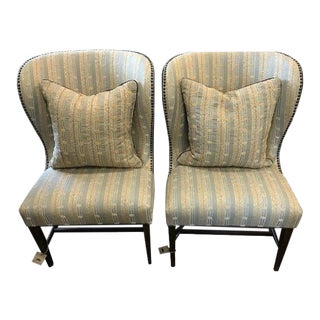 1920s Vintage Barrel Back Chairs - a Pair For Sale